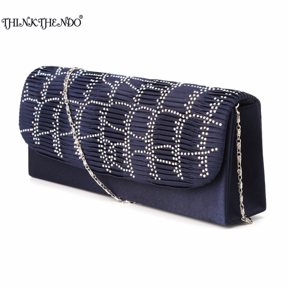 THINKTHENDO 2017 HOT Women Girls Lady Handbag Evening Party Clutch Bag Wedding Wallet Purse Blue/Black/Red/Gold/Silver 2017 lady hot sale black gold white silver clutch women elegant v diamond design wedding handbag female party bag evening bags