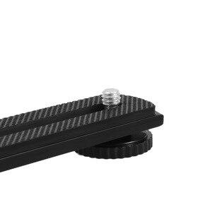 """Image 4 - Meking внешнее крепление Горячий башмак для DV видеокамеры гибкий удлинитель для светодиодной лампы Speelite w/ Two 1/4 """"винтовое отверстие"""