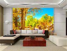 Papier peint 3d personnalisé de toutes tailles, Style européen peint à la main, paysage sauvage d'automne, décoration murale de fond de salon et de chambre à coucher