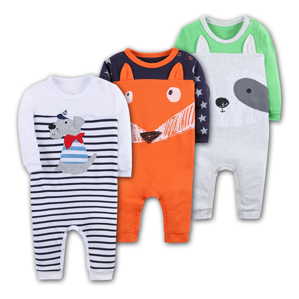 Baby Rompers 100% Cotton Long Sleeved Animal modelling Comfortable Newborn Baby Pajamas baby boy clothes Set Kid Jumpsuit 2018 new baby girls rompers spring autumn long sleeved kids jumpsuit newborn pajamas baby boy clothing cotton baby romper