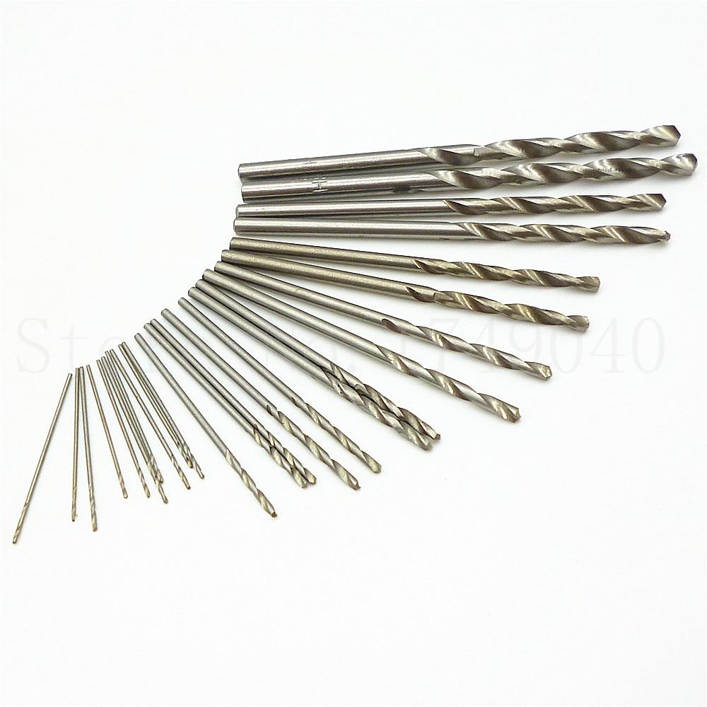 25pcs Mini Micro Drill HSS Bits 0.5mm-3.0mm Straight Shank PCB Twist Drill Bit