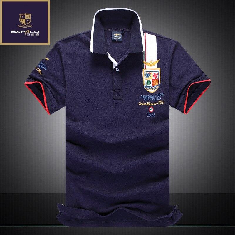 4c71a02fd الصيف جديد قميص بولو الرجال الأعمال 100% القطن التطريز بولو قميص عارضة  الازياء قميص بولو M-XXL
