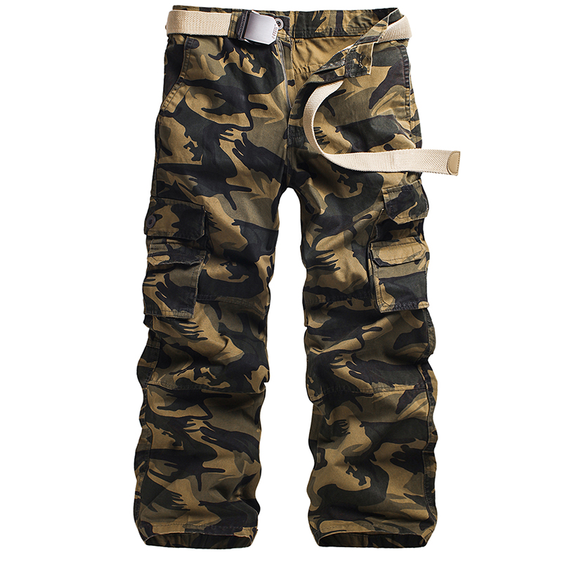 2018 Plus Size Loose Jogger Casual Pants New Large Size Mens military cargo Pants army green Trousers Camouflage Pants Overalls