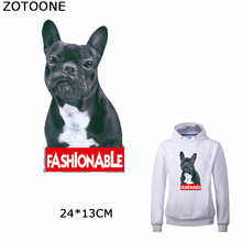 ZOTOONE Cartoon Animals Patches for Clothing DIY Fashionable Puppy Stickers on T-shirt Washable Heat Transfer Iron Jeans Bags
