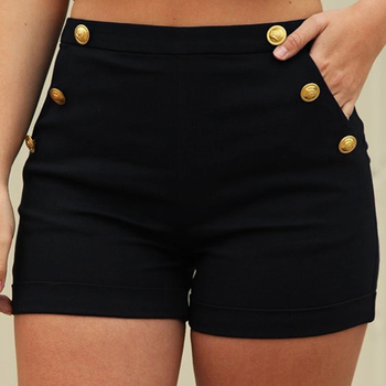 Summer Solid Color High Waist Shorts Women Casual Wild Thin Shorts New Fashion Slim Elastic Waist Shorts High Quality Women's Bottoms