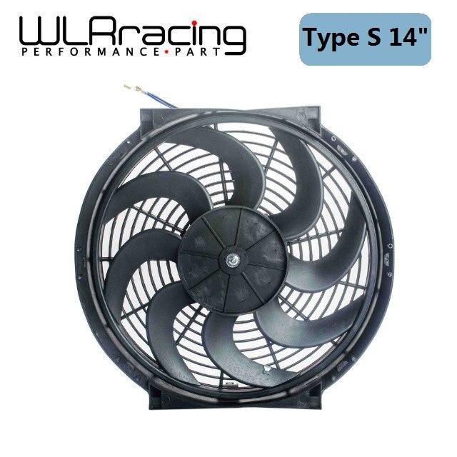 WLR-14 Pouces Universel 12 V 90 W Slim Réversible Radiateur Électrique AUTO FAN Push Pull Avec kit de montage type S 14 WLR-FAN14