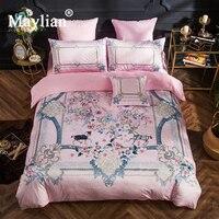Home Textile 4pcs Bedding Sets Duvet Cover Bed Sheet Pillow Cover Crystal Velvet Winter Warm Brand Be1031