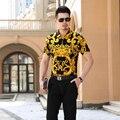 Nuevo diseño de los hombres patrón de rayas de moda de verano 100% de algodón mercerizado camisa de vestir
