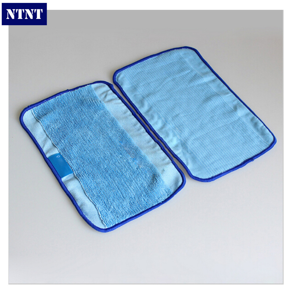 NTNT 3Pcs/Lot Blue Washable Reusable Microfiber Mopping Cloths for iRobot Braava 380t 320 Mint 5200c 4200 Robotic Home Essential