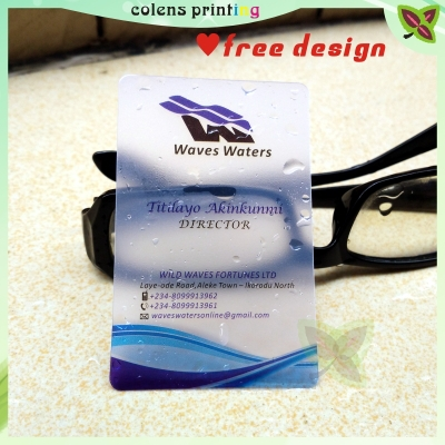 Haute Qualite PVC Carte De Visite Translucide Voir A Travers Nom Personnel Impression Cartes Dans Fournitures