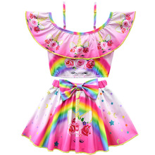 New 2019 Unicorn Girls Swimwear 3~10Years Kids Beach Wear Lovely Swimming Suits Two Pieces Bikini Swimsuit Set Clothes Sets