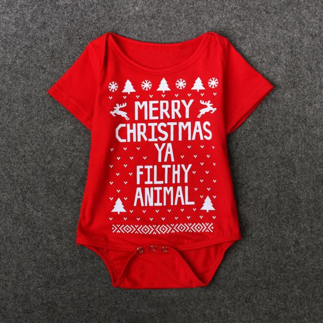 HTB1znZYhaSWBuNjSsrbq6y0mVXaP - New 2016 new born baby clothes  Boys Girls Printed Christmas Romper Jumpsuit Xmas winter romper ld ourlove bebes