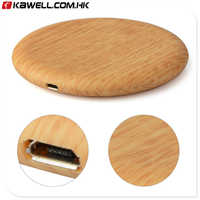 Portable Wood Wireless Charger Charging Pad for Samsung Galaxy S8 S7 Note 8 for iPhone X 8 8Plus