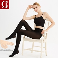 Ciler Spring Autumn Thin Tighs Women Pantyhose High Waist Soft Leg Sexy Black Skin Stockings High
