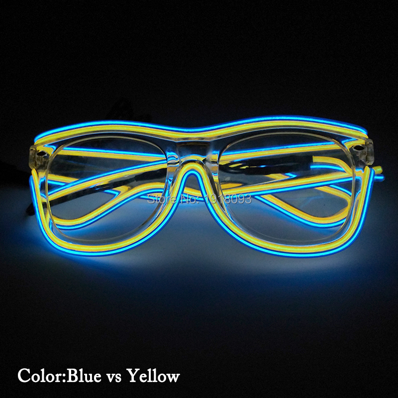 Neon light Glasses Fashionable EL Wire LED Sunglasses LED neon rope ...