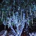 8 pçs/set 110 V-240 V 50 cm de Natal Mini LED Meteoro Chovendo Luz À Prova D' Água Para Fora Da Porta Decoração Luz