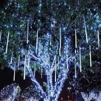 110V 240V Input Christmas Decoration Mini LED Meteor Raining Light 50cm 32 Pcs Led Bulbs 8pcs