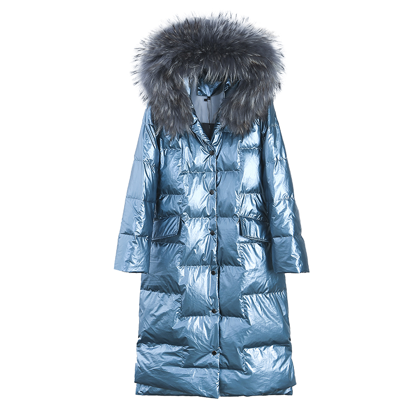 Women Down Jacket 2019 New Winter Coat Big Fur Collar Women Long Paragraph Thickening Slim Warm Hooded For Female