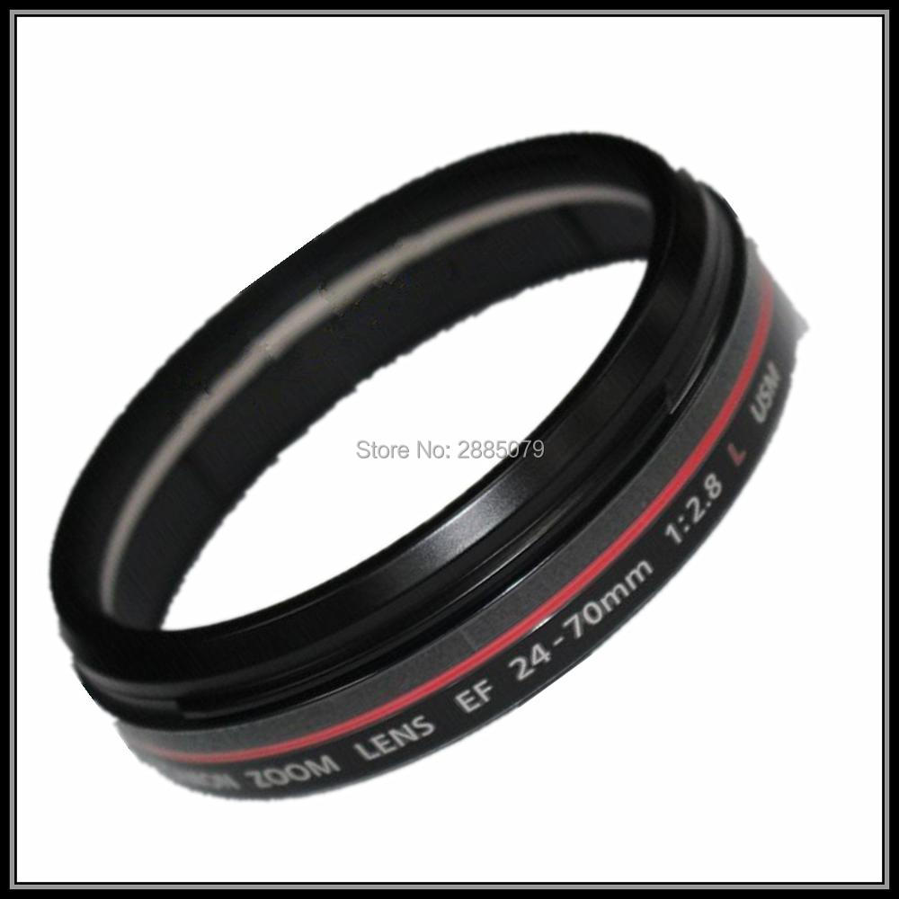 Pièces de réparation d'objectif SLR pour Canon EF 24-70mm f/2.8L anneau rouge tube de cercle rouge cercle coquille capot pièces de rechange de baril d'objectif