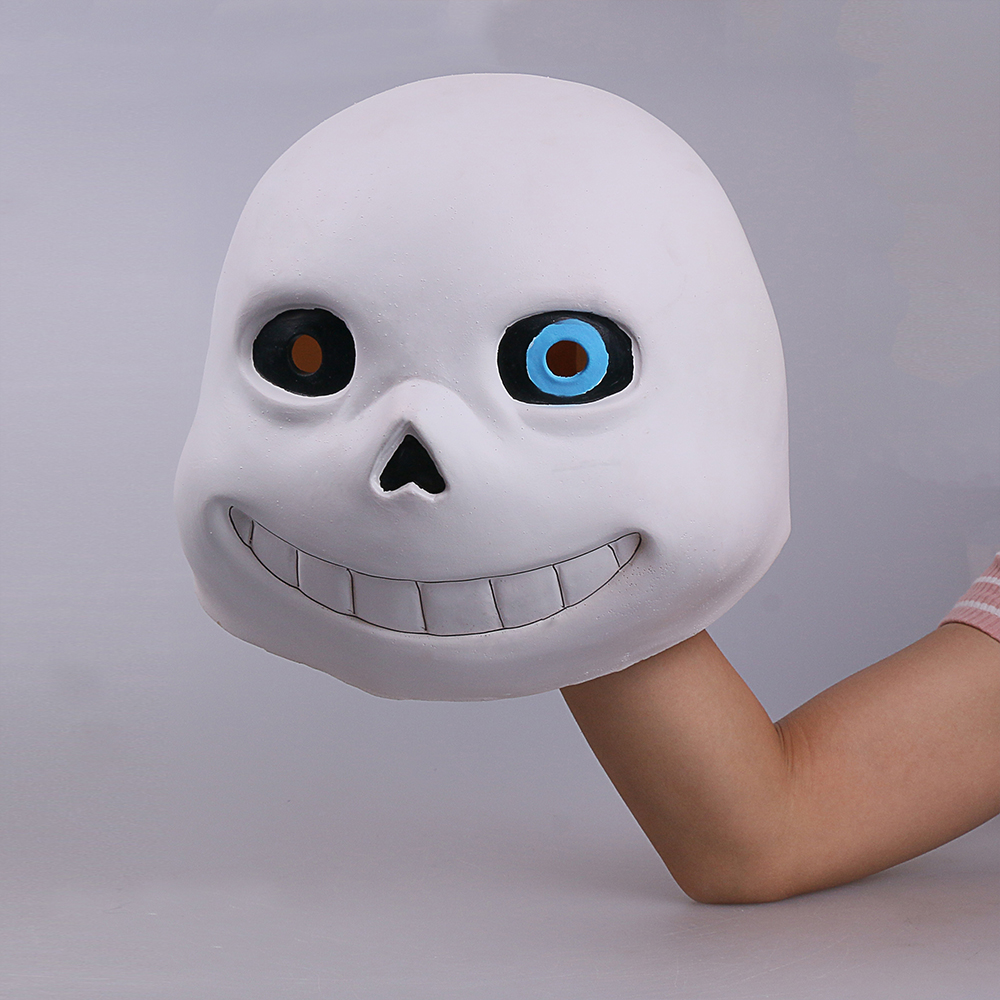 Full head Undertale Sans Latex Masks Cosplay Funny White Helmets Shores Of Halloween Party Fancy Christmas Balls