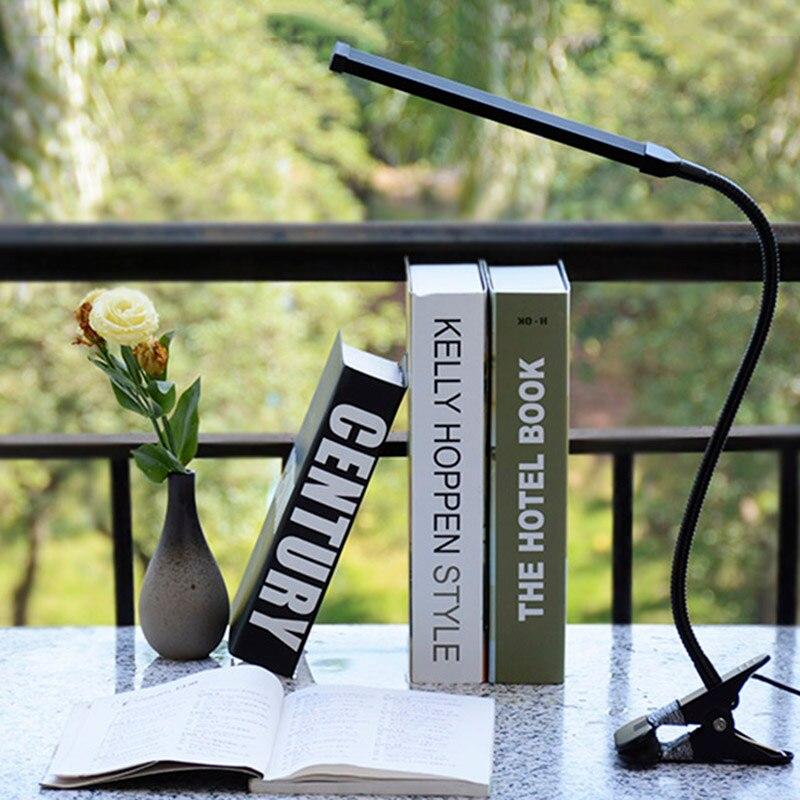 Fonkin Light Table Lamp Clip on Desk Rechargeable Led Desk Lamp Usb Charger Led Reading Table Lamp Touch For Office 8W 90801 clip on 10 led usb light flexible gooseneck reading touch desk table lamp