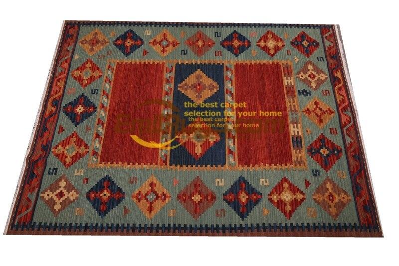Ручная работа; вязаное; шерстяное Ковры Kilim гостиная ковер Bedroon прикроватные одеяло коридор Средиземноморский стиль sf08v2gc131kilimyg4