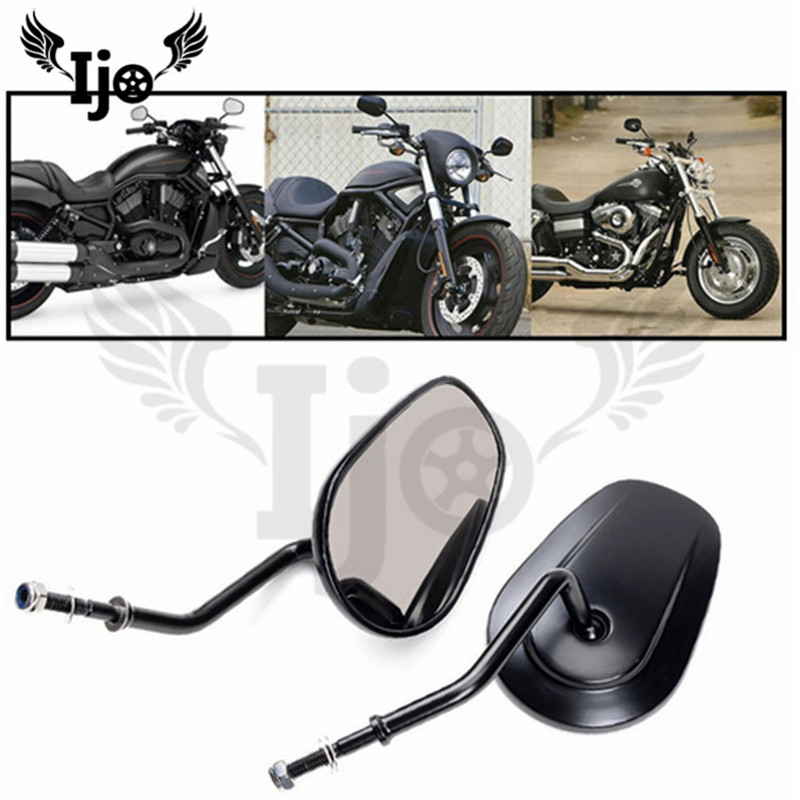 top quality metal big size motorbike side mirror moto backup mirror for harley prince cruise mirror motorcycle rearview mirrors