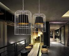 Творческая Личность Железа Гальванических Птичья Клетка Люстра Nordic Ресторан Бар Промышленные Ретро Кафе Люстра Бесплатная Доставка