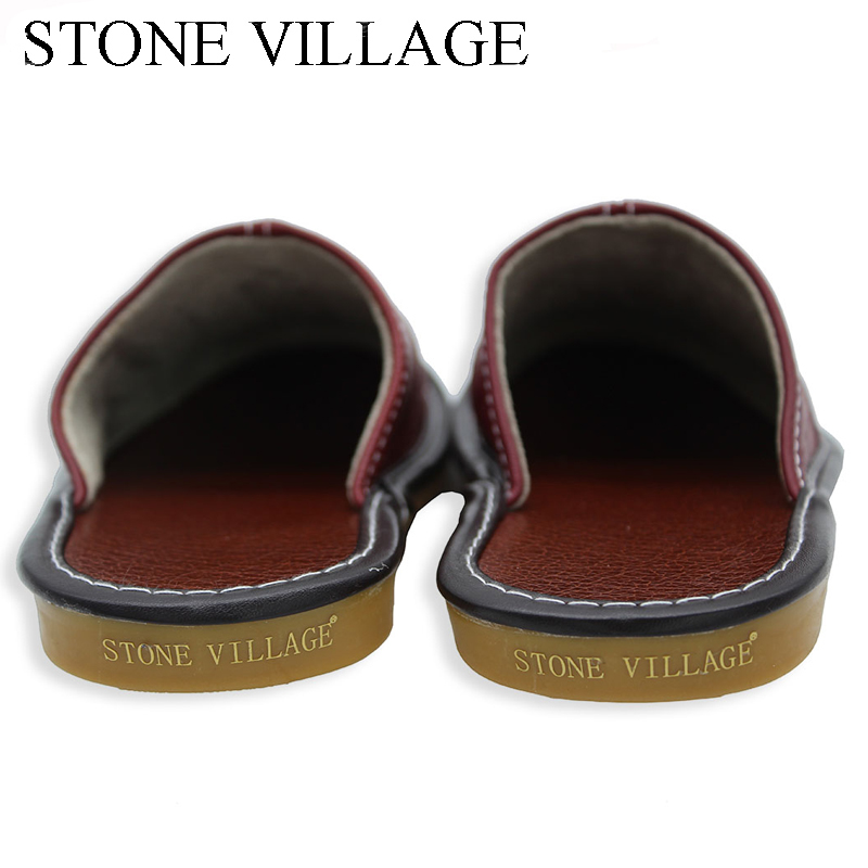 Plus Size 35-44 Genuine Leather Women Men Slippers Summer Home Slippers High Quality  Women Men Shoes Non-Slip Home Floor Shoes 5