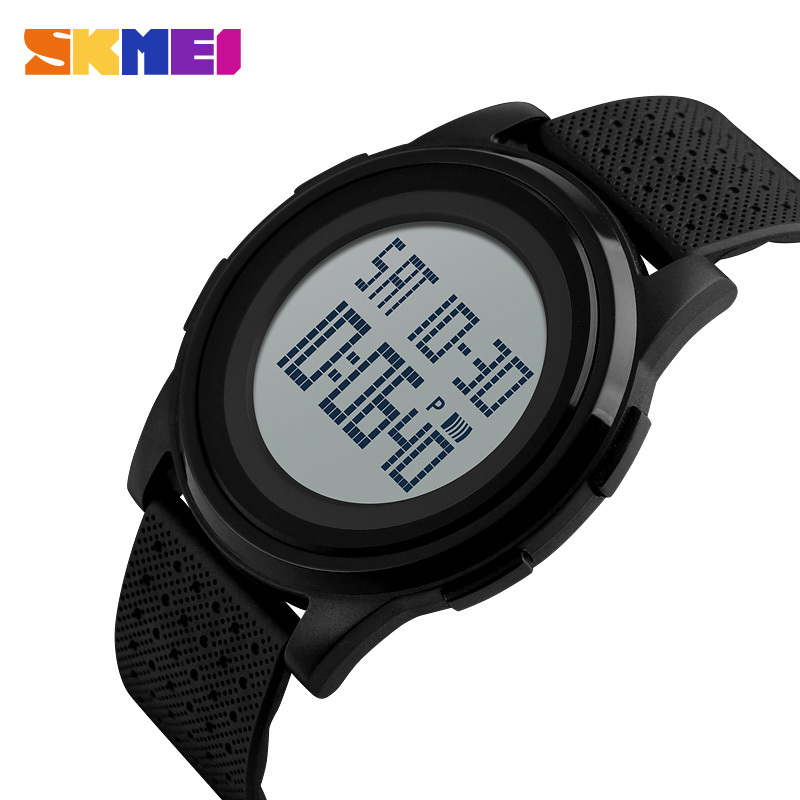 SKMEI Men Digital Watch Double Time Light Thin Comfort Fashion Watches Countdown Waterproof Male Female Wristwatches Clock 1206
