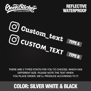 Image 3 - Customized Personalized Die Cut Instagram User Name Waterproof Reflective Car and Motorcycle Decals Bumper Ins Sticker