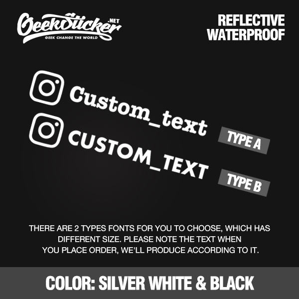 Image 3 - Customized Personalized die cut Instagram User name Waterproof reflective Car and Motorcycle Decals Bumper Sticker ins sticker-in Car Stickers from Automobiles & Motorcycles