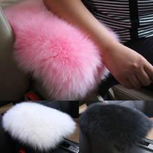 Universal fur plush car armrest cover auto center console box cover arm rest box soft cushion