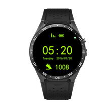 "2016 KW88 MTK6580 Android 5.1 OS GPS Smart Uhr 1,39 ""Display WiFi GPS 3G Bluetooth Sim Smartwatch telefon Für Android Samsung"