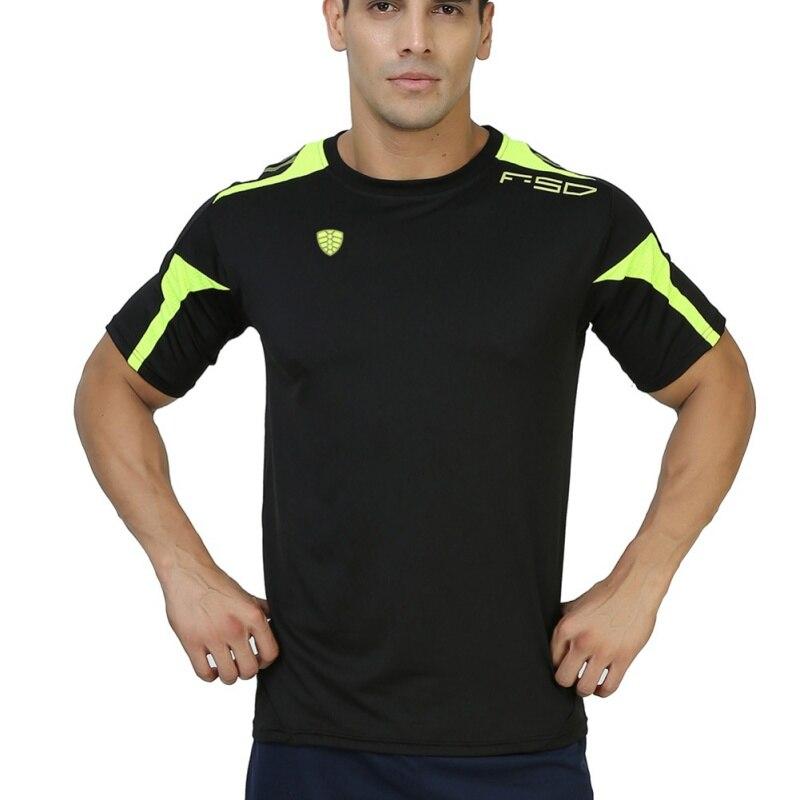 Brand Man Sport Running Wicking Short Sleeved T Shirts Men's Quick Drying T-shirt Sportswear Men Sport Fitness Running Tops LS06