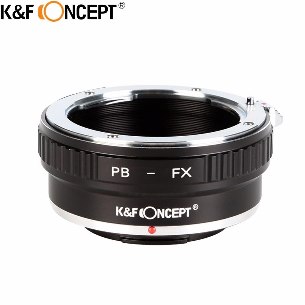 Adaptateur pour monture d'objectif K & F CONCEPT pour objectif Praktica B PB vers le corps de l'appareil photo Fuji FX Fujifilm x-mount FX