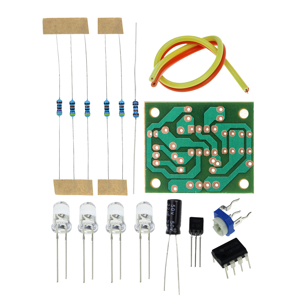 LM358 breathing light parts electronic DIY fun making kit blue flashing lamp electronic production suite electronic component