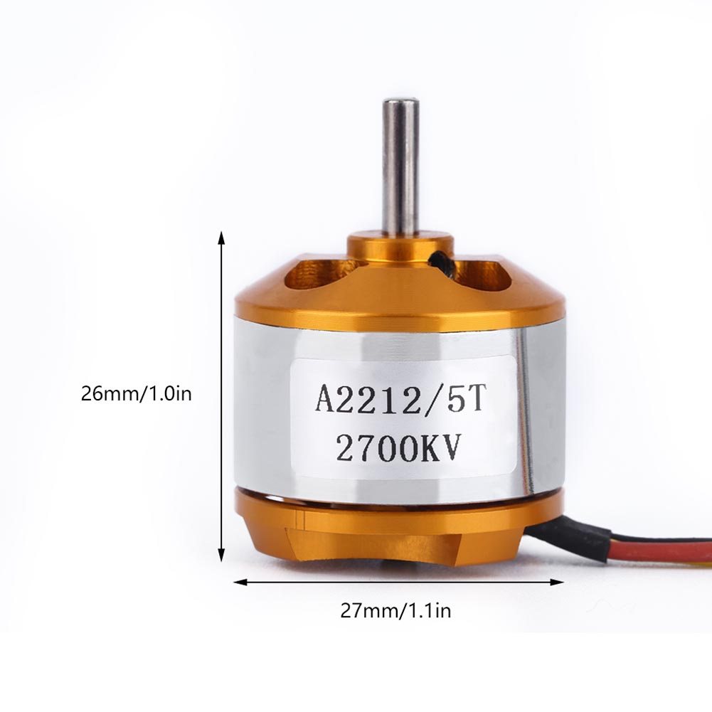 Aircraft 2700KV Outrunner Brushless Motor A 2212 / 5T NEW Colorway @ S7JN x team xto 2212 850kv forward outrunner brushless motor for helicopter silver