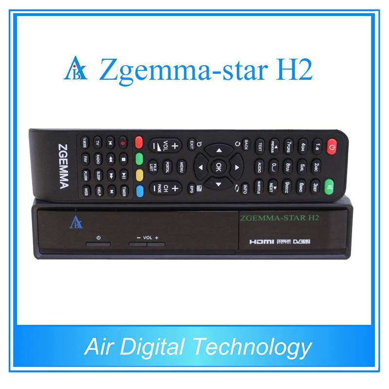 ФОТО 10 pcs Hot new product Zgemma star H2 Linux 1xDVB-S2+1xDVB-T2/C satellite receiver