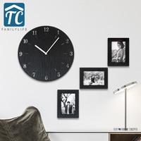 Creative Minimalist Wall Clock Simple Modern Fashion Bedroom Quiet Pastoral Quartz Watch Large Living Room Wall Clock