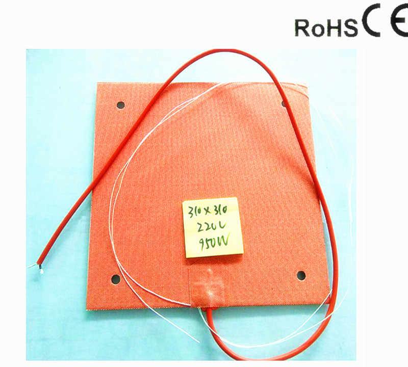 Vários 110V Flexível Prova D /'água Aquecedor De Silicone Pad Para Impressora 3D