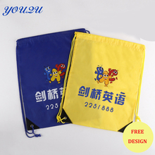 Custom Polyester drawstring bag custom Promotional drawstring bag Blank drawstring bag lowest price+escrow accepted