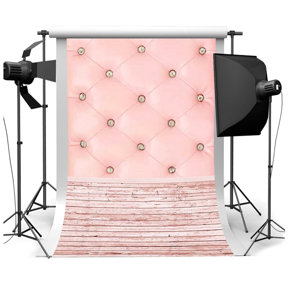 Top Deals 3x5FT Vinyl Photography Backdrop Wall Photo Background pink