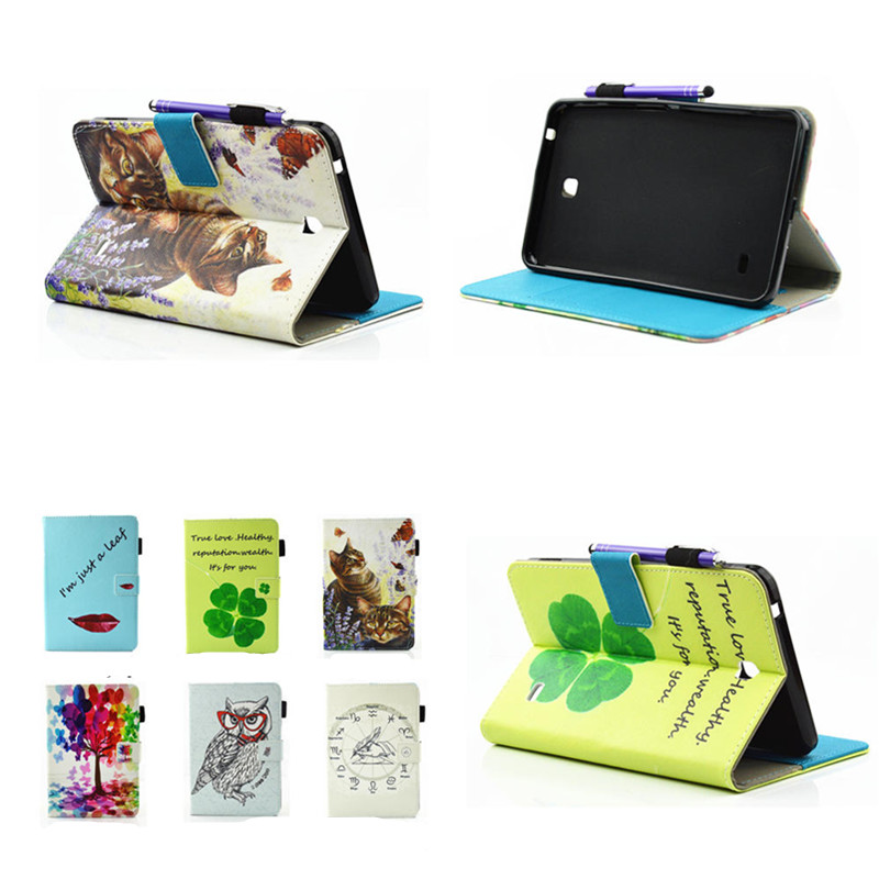 For Tab 4 7.0 Tablet Pu Leather Stand Wallet Cover Case For Samsung Galaxy Tab4 7.0 T230 T231 T235 SM-T230NU Fundas Card Slots