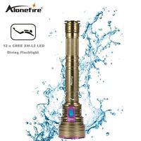 AloneFire DV40 Dive 30000LM 12*XM l2 LED Waterproof 100m Diving Scuba 26650 Flashlight Torch