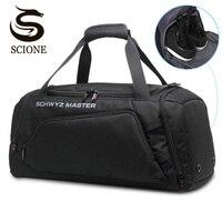 Men's Travel Bags Waterproof Large Capacity Travel Duffel Bags Luggage Handbag for Men Male Casual Black Shoulder Bag Tote