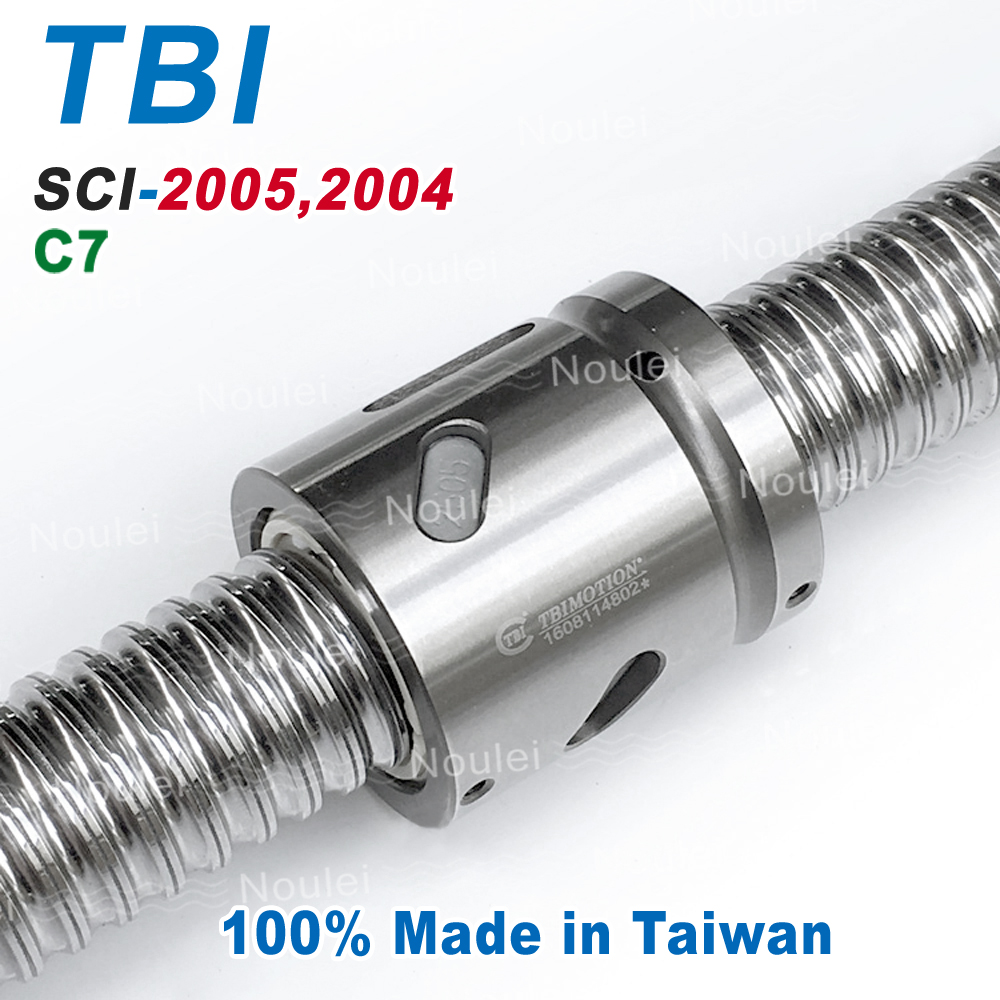 TBI MOTION C7 2004 2005 Ballscrew 800mm+Without Flange Ball nut 4mm 5mm Lead Screw SCI2004 SCI2005 SCNI2005 taiwan tbi motion dfs3210 2000mm rolled c7 ball screw with dfs 3210 ballscrew nut page 9