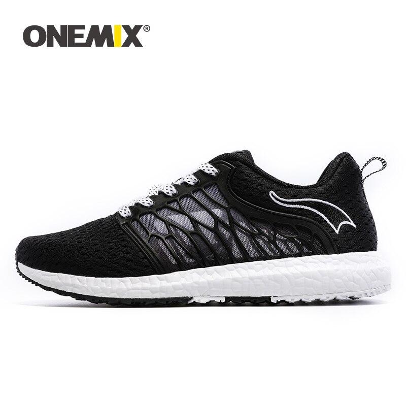 ONEMIX chaussures de course respirant maille hommes chaussures de Sport Super léger baskets chaussures de plein air hommes pour Sport marche Jogging chaussures