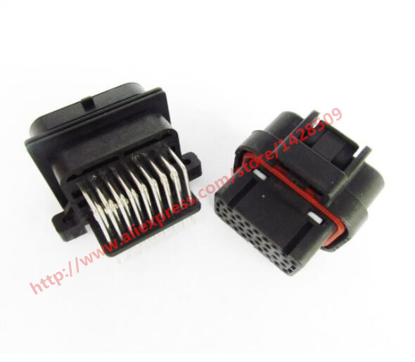 5 Set 34 Pin Female And Male Tyco AMP Auto Oil Gas Connector 4-1437290-0 1 set 18 pin 344106 1 female and male plastics copper 18 way tyco te amp auto waterproof connector