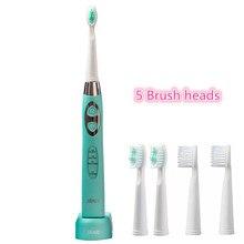 5 cabeças de Escova de Sonic escova de dentes elétrica Recarregável Lavável Indutivo de carregamento inteligente Fashable 100 240 V Seage SG 917